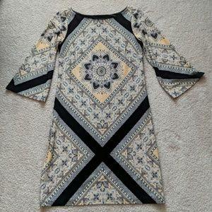 Valerie Bertinelli medallion print dress